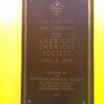 little did I know that the American Chemical Society was founded in NYC