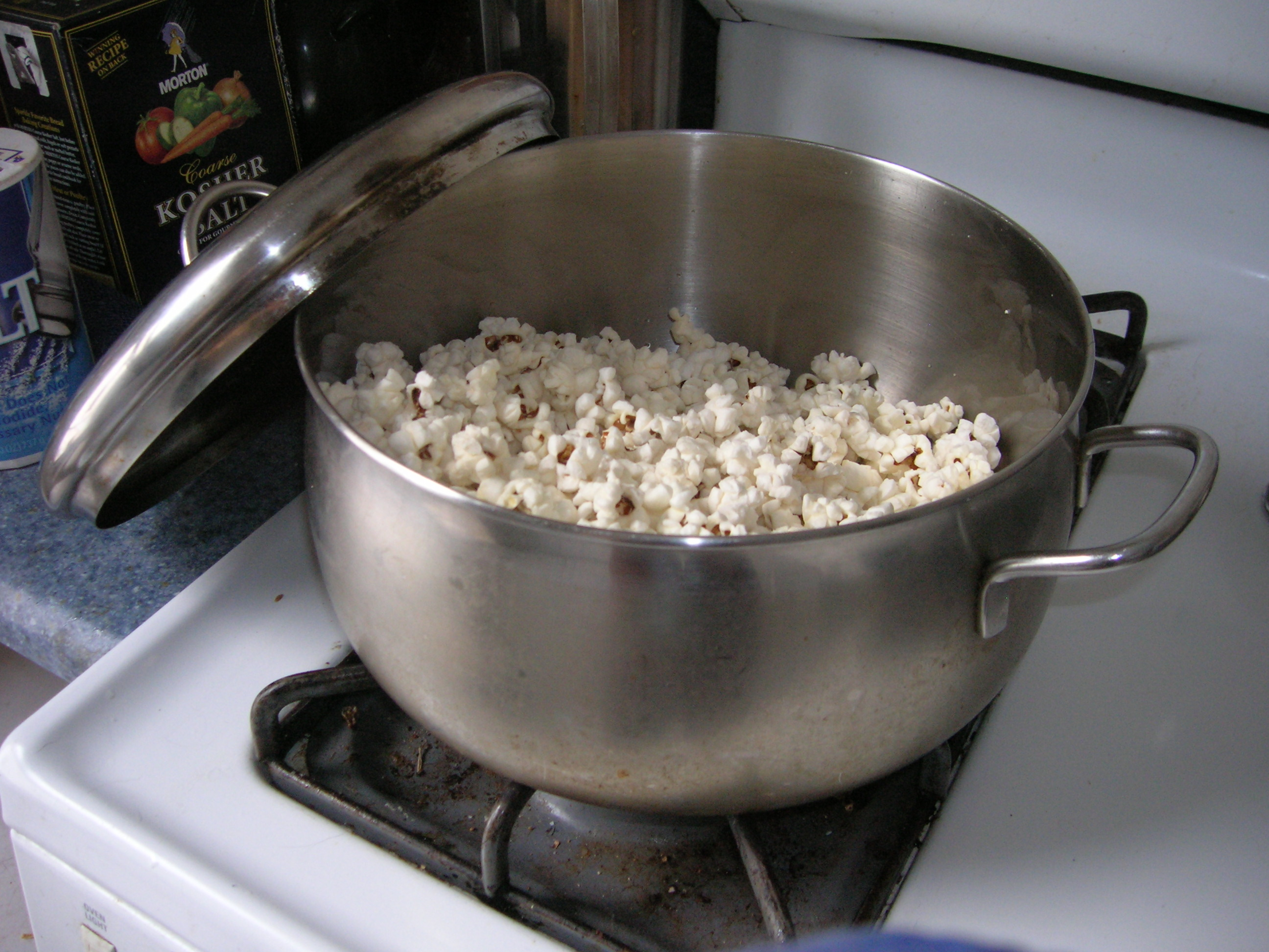 popcorn on the stove, just like Mom used to make