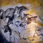 replica of a Chauvet Cave painting from a museum in Brno, Czech Republic